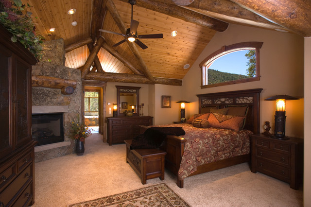 Master bedrooms in mountain homes traditional bedroom other metro by bhh partners - Home design houzz ...