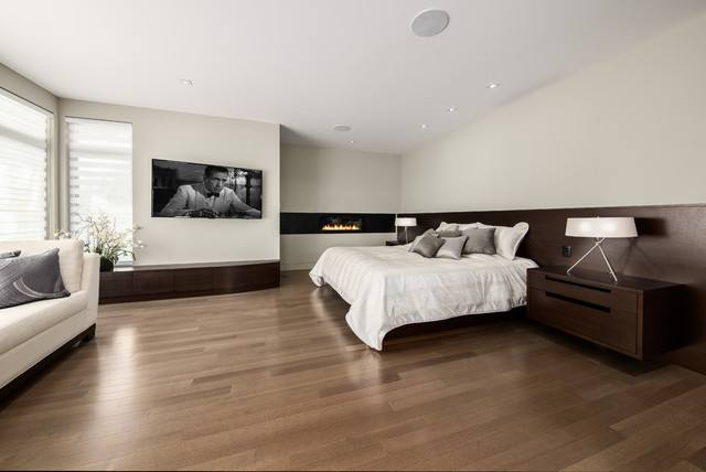 Master Retreat Open Concept Ensuite Contemporary Bedroom Ottawa By Design First Interiors