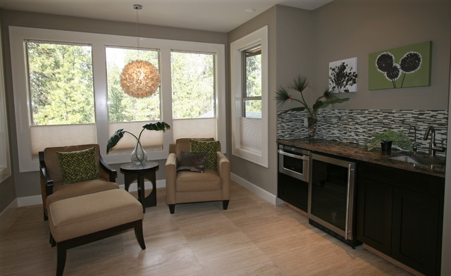 Master Bedroom Kitchenette master sitting area & kitchenette - contemporary - bedroom