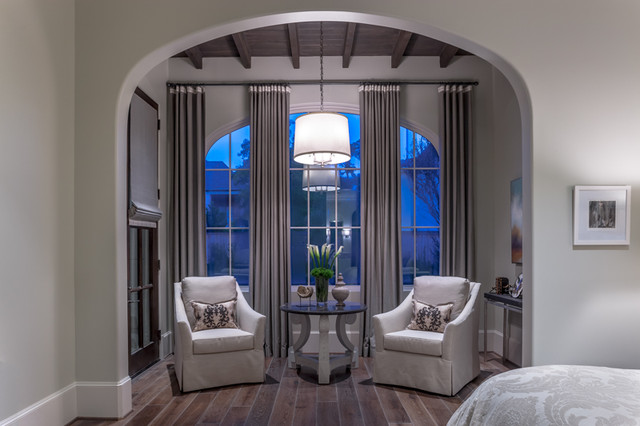 Master sitting area transitional bedroom houston by bankston