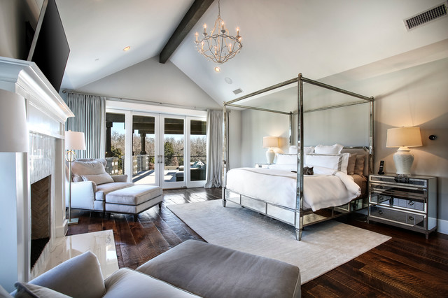 Master Suite Transitional Bedroom Dallas By Heritage Design Studio