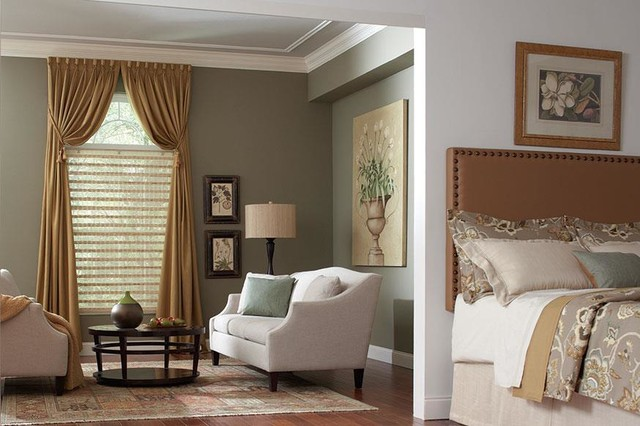 Master suite design and linen curtains amp draperies of indianapolis