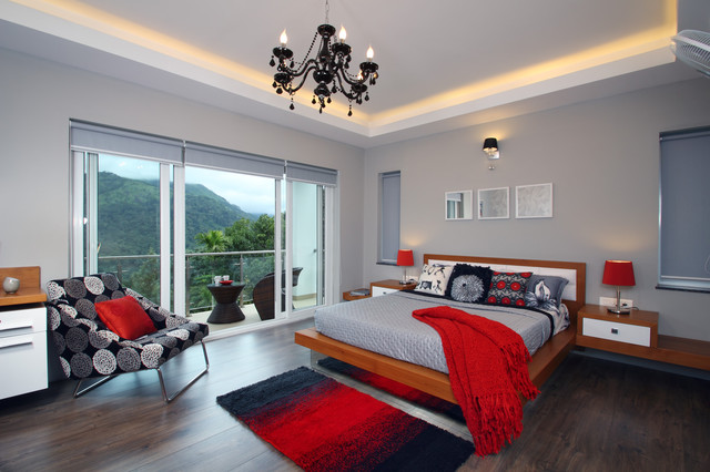 contemporary bedroom by savio rupa interior concepts bangalore - Bedroom Color Schemes