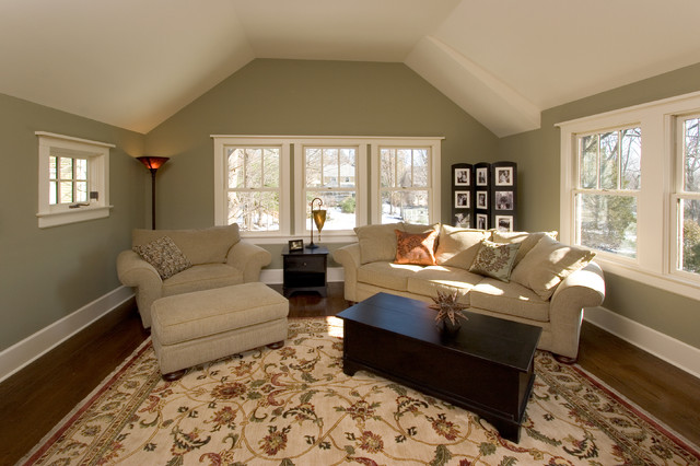 Master Suite Sitting Room With Vaulted Ceiling Craftsman Bedroom New York By Clawson