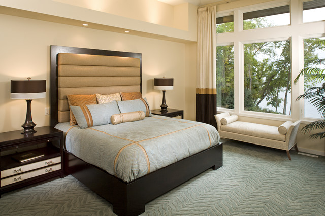 Interior Designers Decorators Masterful Suite Contemporary Bedroom