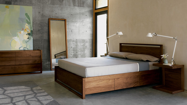 Matera Bed with Storage Designed by Sean Yoo for Design Within