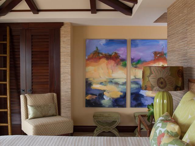 Mauna Kea home tropical-bedroom