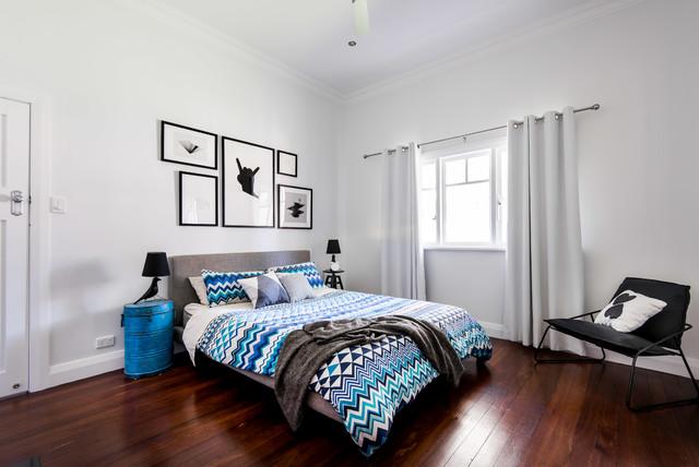 Maylands renovation contemporary-bedroom