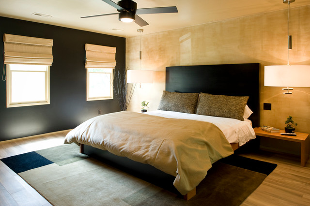 Mc master renovation asian bedroom raleigh by just for Schwarz gold schlafzimmer