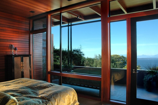 Meadow Creek House modern bedroom