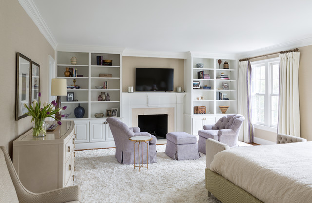 Meadow lane transitional bedroom dc metro by homegrown decor llc - Comment ranger son salon ...