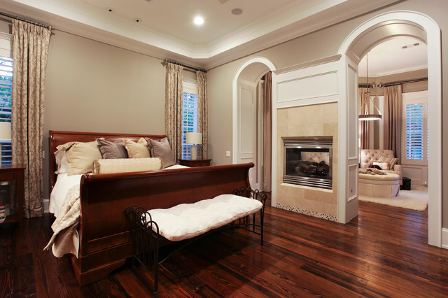 Memorial Hamptons Style Traditional Bedroom Houston