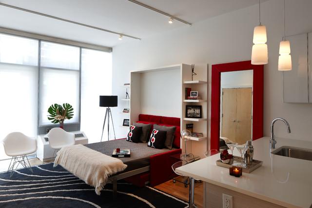 Midtown Modern Interior Design Studio Apartment Modern Bedroom