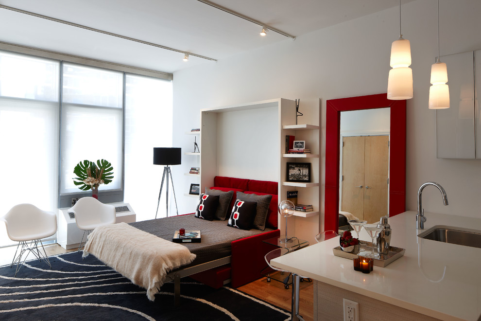 Mercedes House Midtown Modern Interior Design Studio Apartment Modern Bedroom New York By B Moore Design Inc