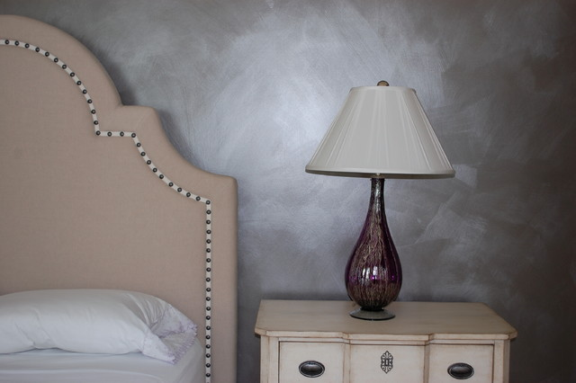 Metallic Glazed Wall Eclectic Bedroom Baltimore By