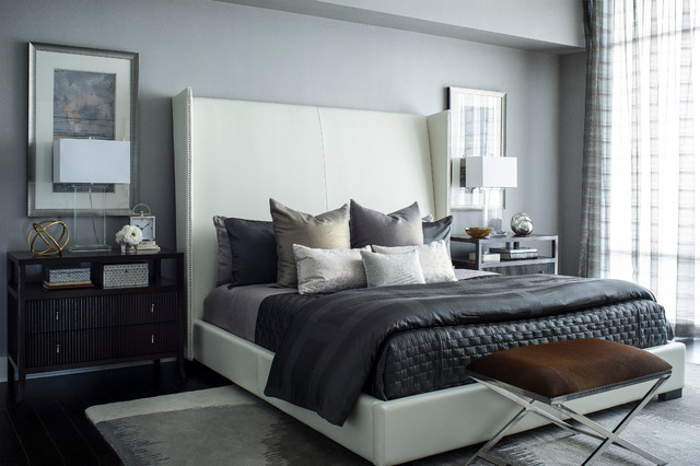 Metropolitan chic contemporary bedroom orlando by tina marie interior design for Metropolitan school of interior design