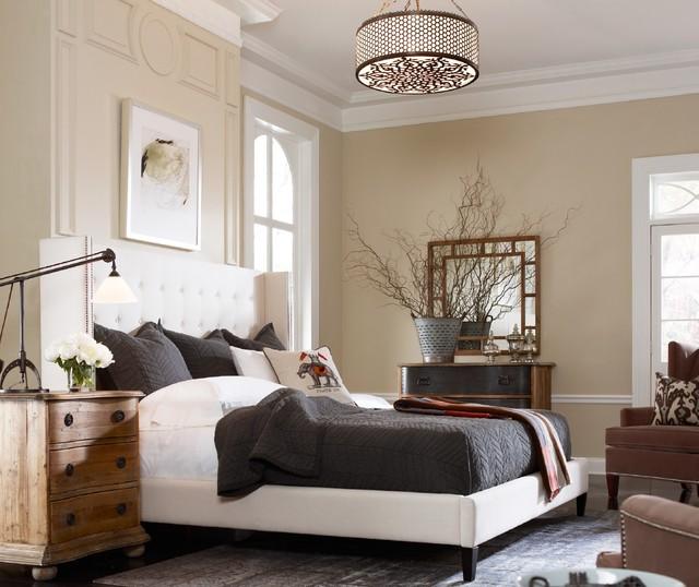 Metropolitan modern master bedroom Modern vintage master bedroom