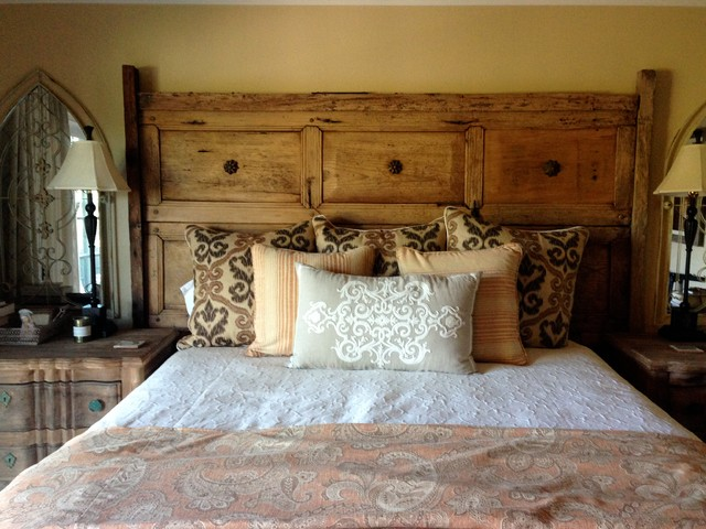 Mexican Antique Door Headboard rustic-bedroom - Mexican Antique Door Headboard - Rustic - Bedroom - Los Angeles - By
