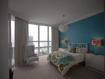 Miami Penthouse tropical bedroom