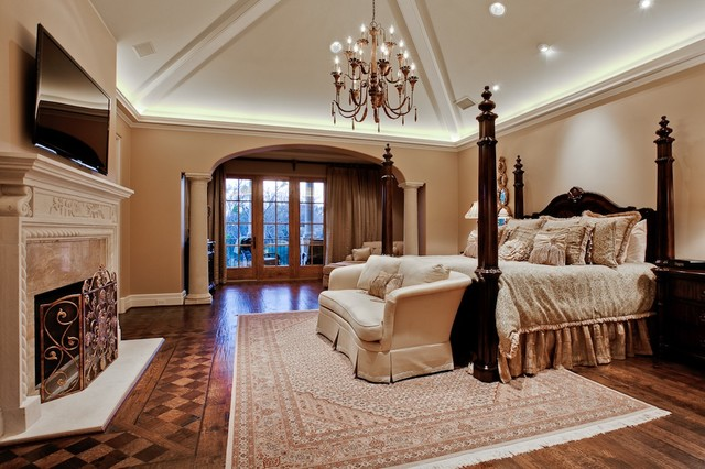 michael molthan luxury homes interior design group mediterranean bedroom - Luxury Mansion Interior