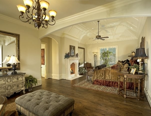 Michael molthan luxury homes interior design group traditional bedroom dallas by michael - Inside luxury bedrooms ...