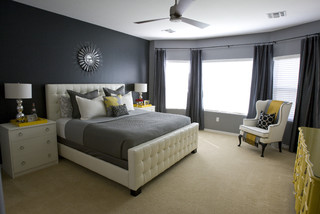 Michelles Master Bedroom. eclectic bedroom
