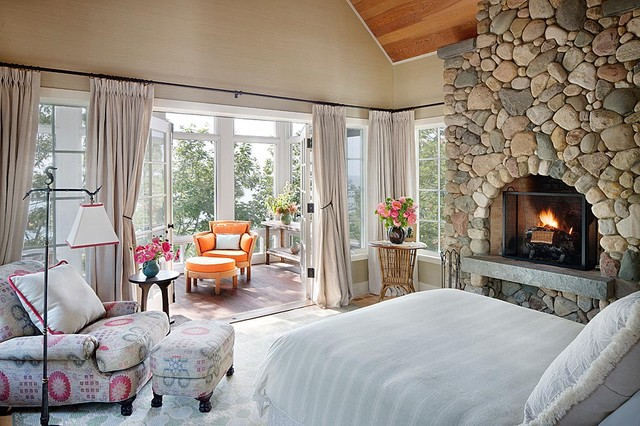 traditional bedroom by Alan Design Studio