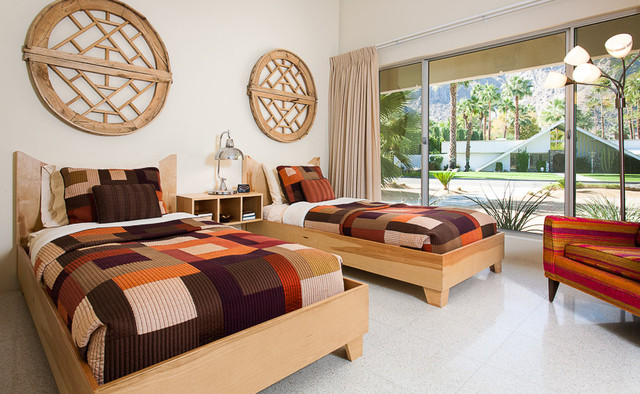Mid Century Modern home in Palm Springs midcentury-bedroom