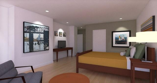 Mid century modern ranch remodel midcentury bedroom for Mid century modern master bedroom