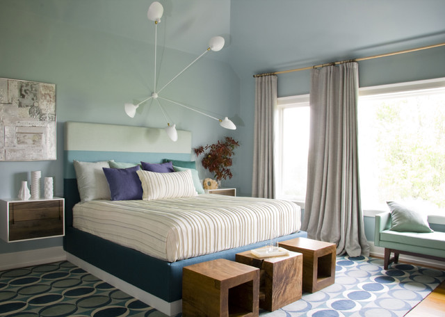 modern bedroom by Amy Lau Design