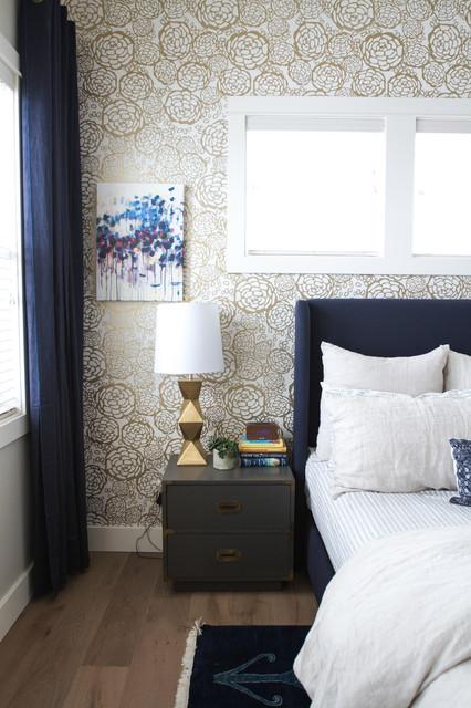 Midcentury bohemian master bedroom - Camera da letto anni 50 ...