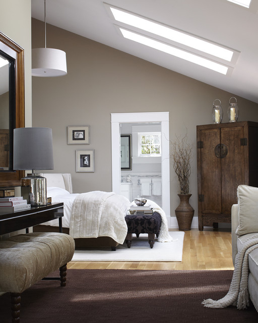 transitional bedroom by urrutia design - Houzz Bedroom Design