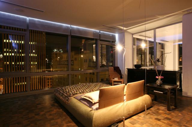 millennium tower loft master bedroom