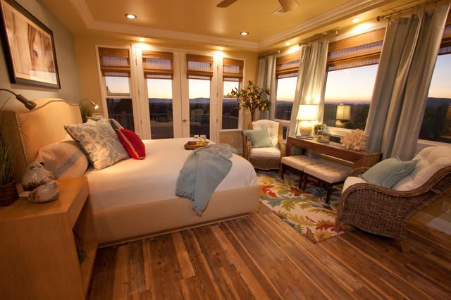 Million Dollar View Contemporary Bedroom Orange