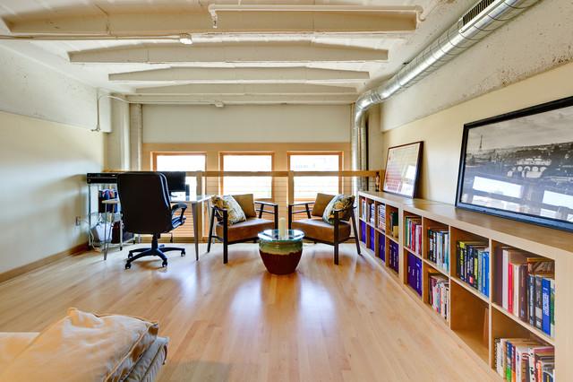 Milwaukee condo loft room addition contemporary for Loft additions