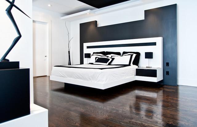 Minimalist Bedroom Remodel with Custom Elements - Modern - Bedroom ...