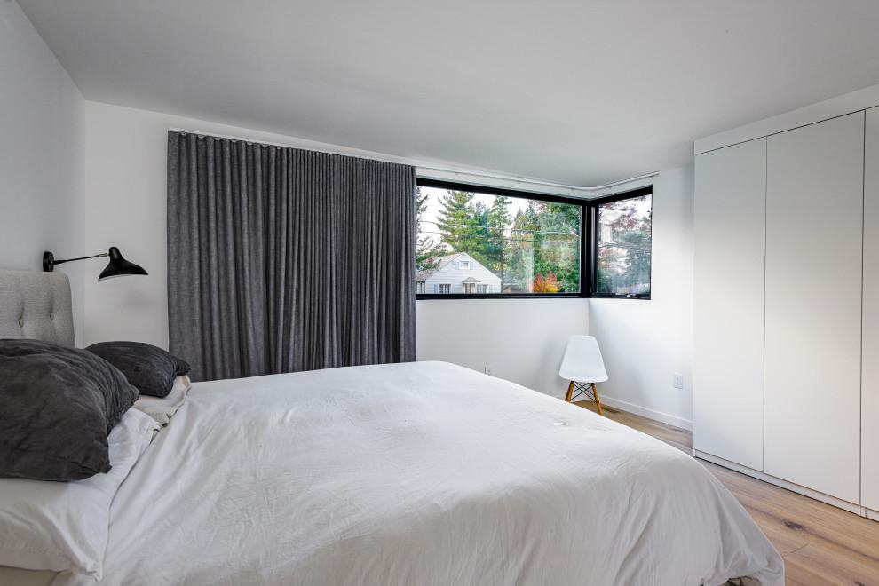 Bedroom - scandinavian bedroom idea in Philadelphia
