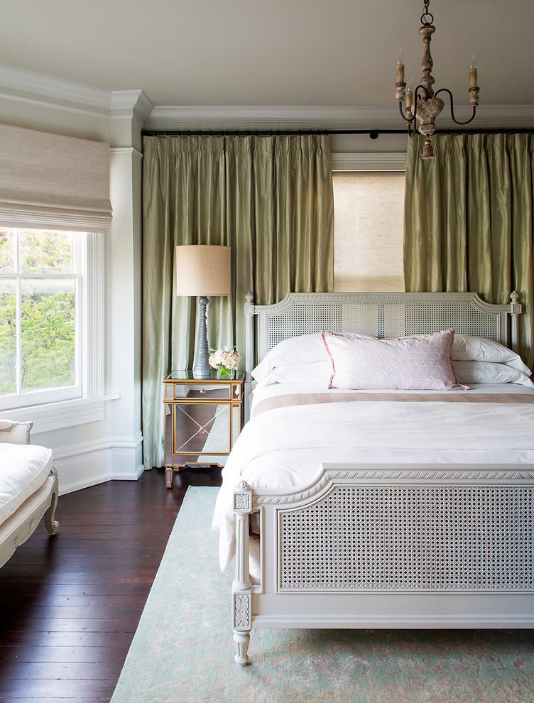 Elegant dark wood floor bedroom photo in Atlanta
