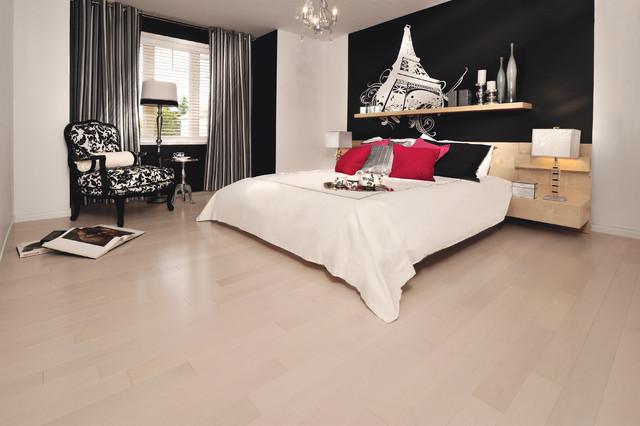 Mirage Maple Alaska Engineered Hardwood Flooring Contemporary Bedroom