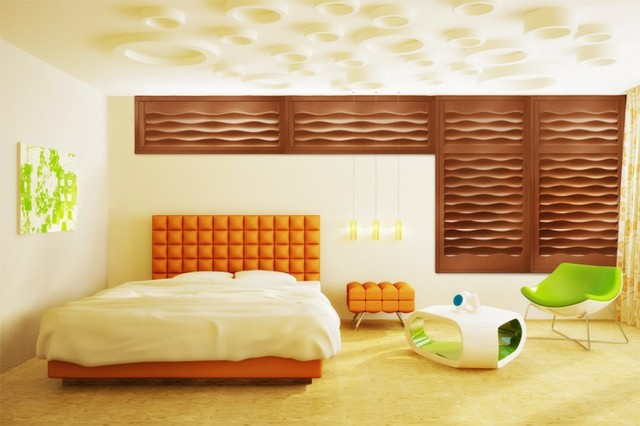 MIRAGE SHUTTERS contemporary-bedroom