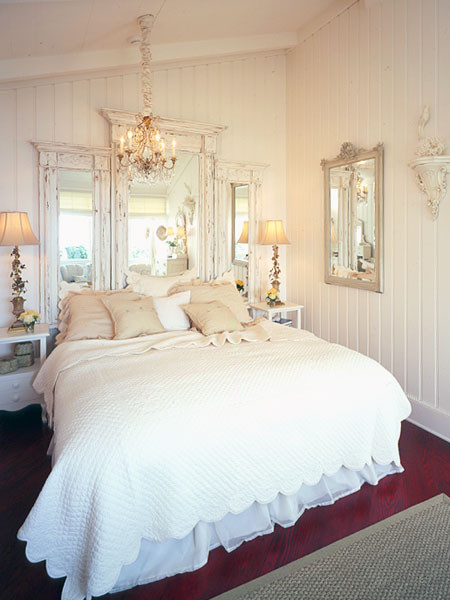 Mirror Headboard traditional-bedroom