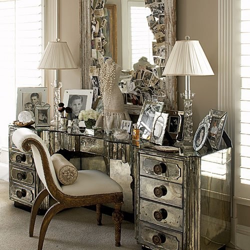 Mirrored Furniture Accessories Photo Of A Traditional Bedroom In Dallas