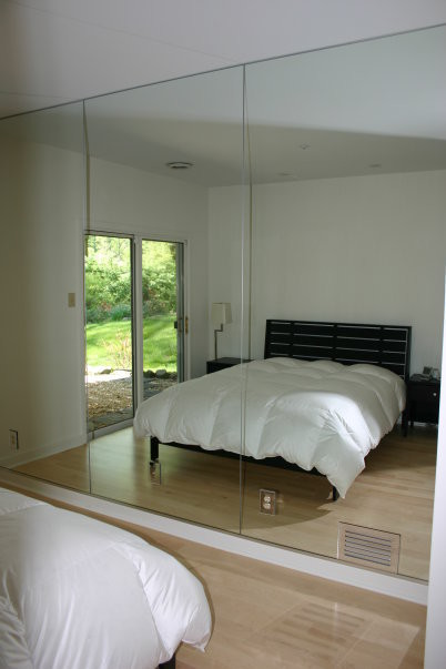 Mirrored Walls modern bedroom. Mirrored Walls   Modern   Bedroom   Philadelphia   by Bryn Mawr