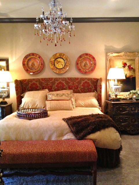 Model Home eclectic-bedroom