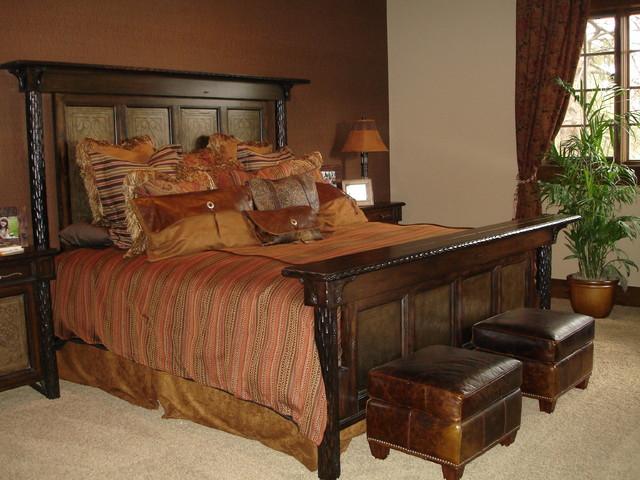 model home in flagstaff arizona southwestern bedroom