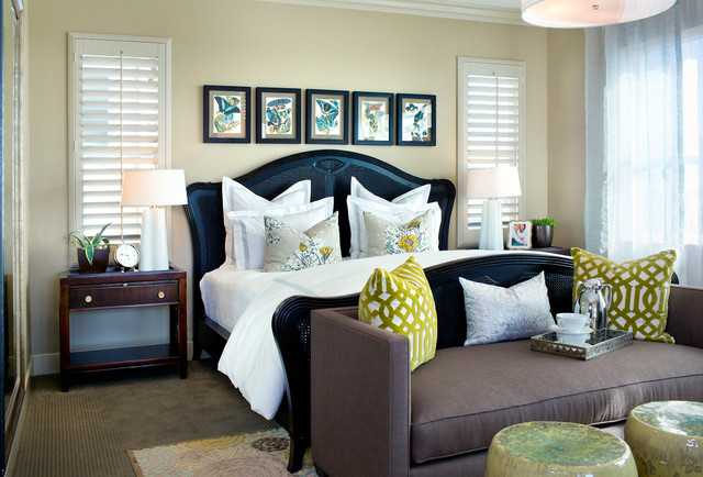 Model Homes transitional-bedroom