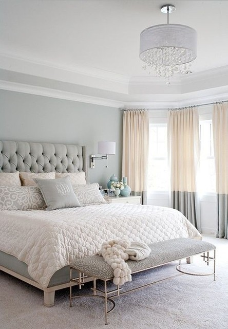 Modern and chic European style bedroom - Traditional - Bedroom - Los ...