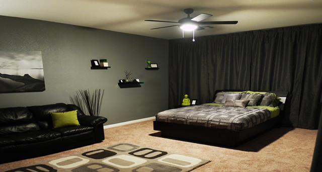 Modern bachelor 39 s room modern bedroom las vegas by for Bachelor small bedroom ideas