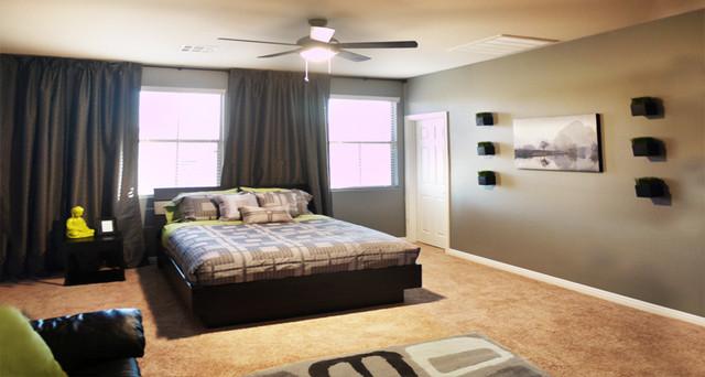 Modern bachelor 39 s room modern bedroom for Bachelor room decor