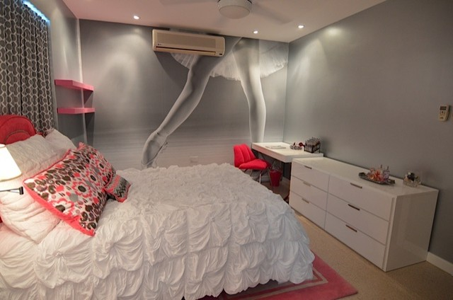 Modern ballerina room modern bedroom houston by for Teen girl room decor